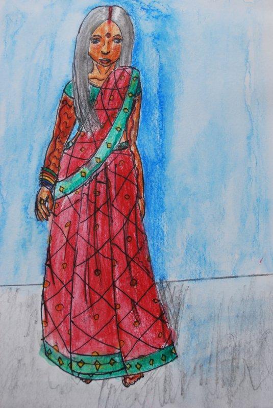 Habits traditionnels de l'Inde : Sari