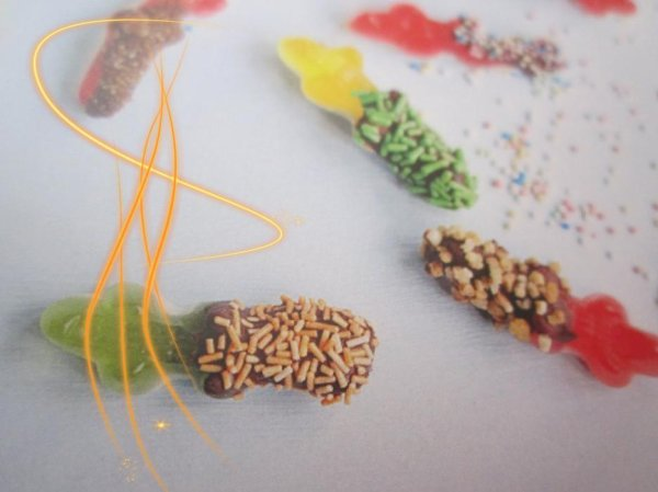 """bonbons """" HARY CROCO"""" en bracelets"""