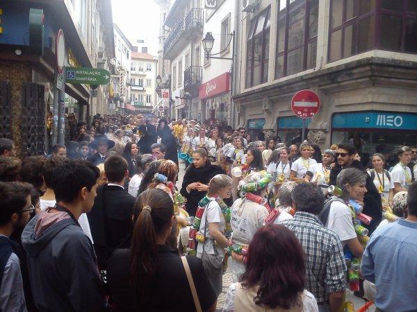 Manifestation des lycéens de Viseu.