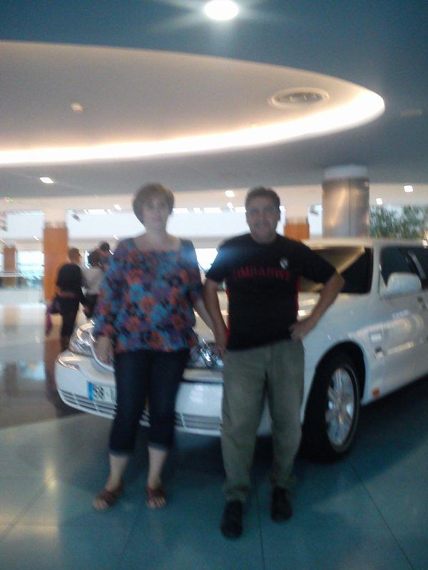 moi et Simonne au palais de la glace à Viseu.