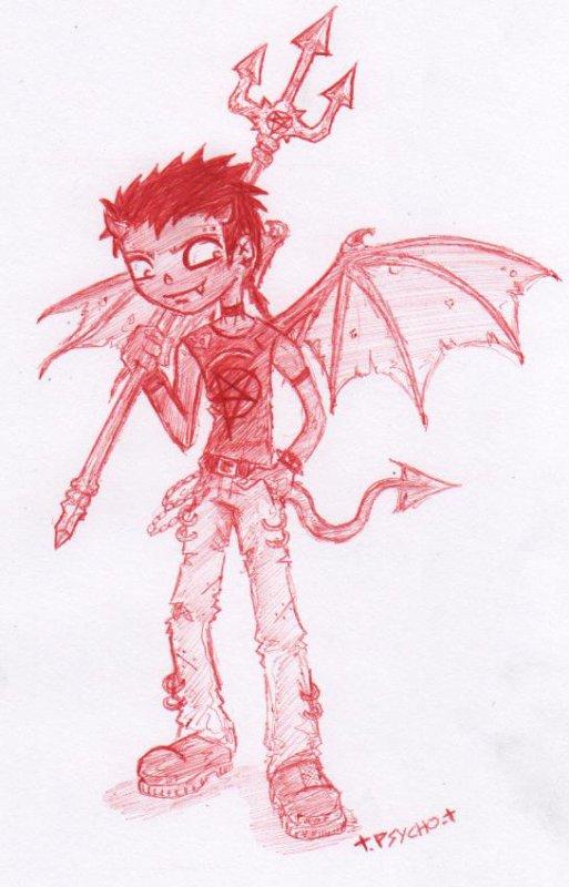 Cinquième dessin. - Young devil.