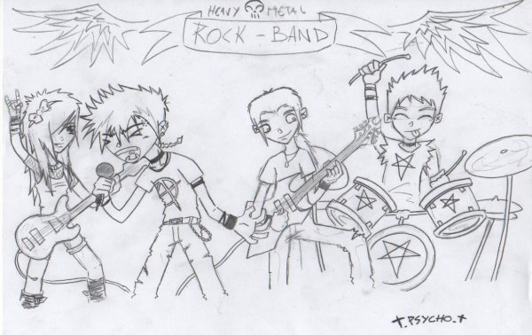 groupe de rock.