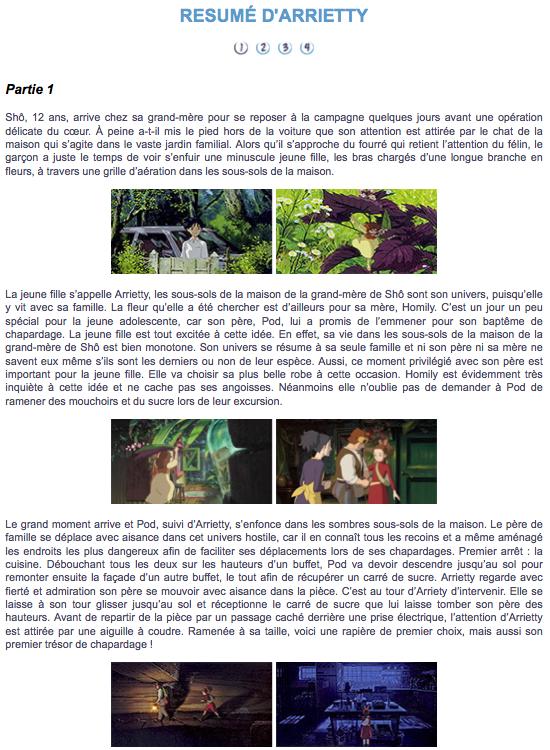 arrietty, le petit monde des chapardeurs (1)