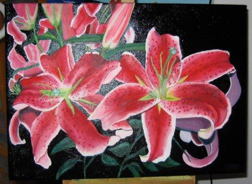 Commencée depuis longtemps ! Peinture huile. Je profite qu'en ce moment j'ai envie de boucler tout ce que j'ai commencé un jour...