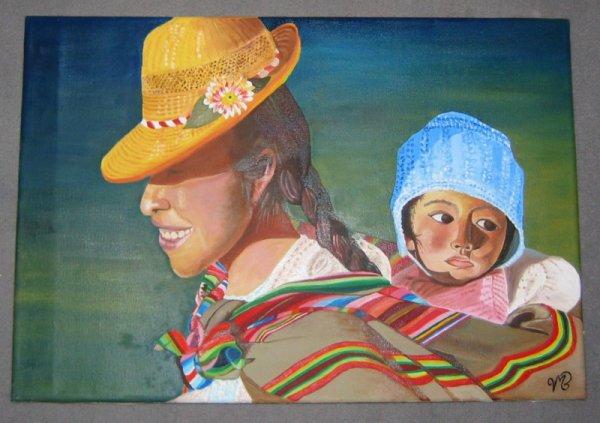 La péruvienne et son petit...
