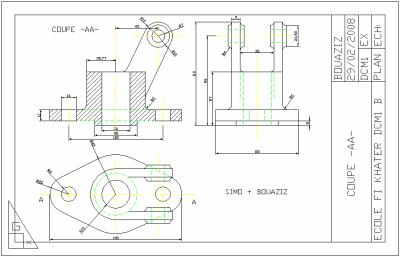 Dessin industriel dessin construction - Exercice dessin industriel coupe et section ...
