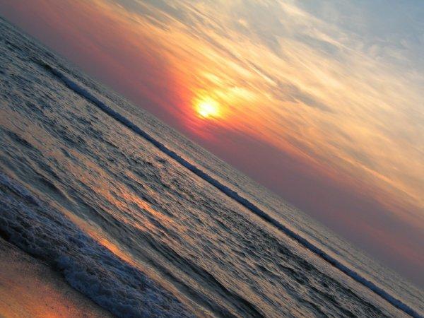 coucher de soleil sur mer 2