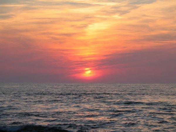 coucher de soleil sur mer 1