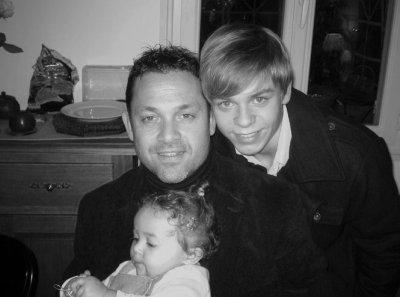 Mon père, ma cousine Kaelya et moi