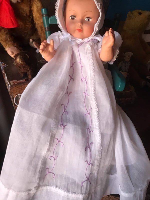 Fond de robe et robe de baptême pour Michel
