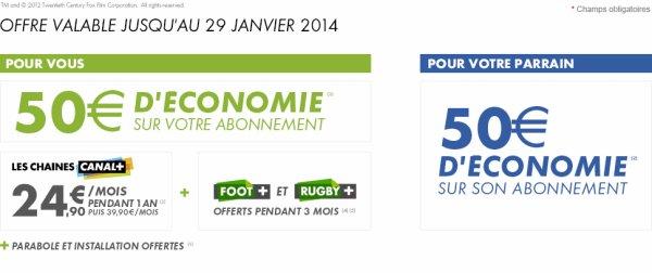 CANAL + : 75¤ d'économie en février 2014