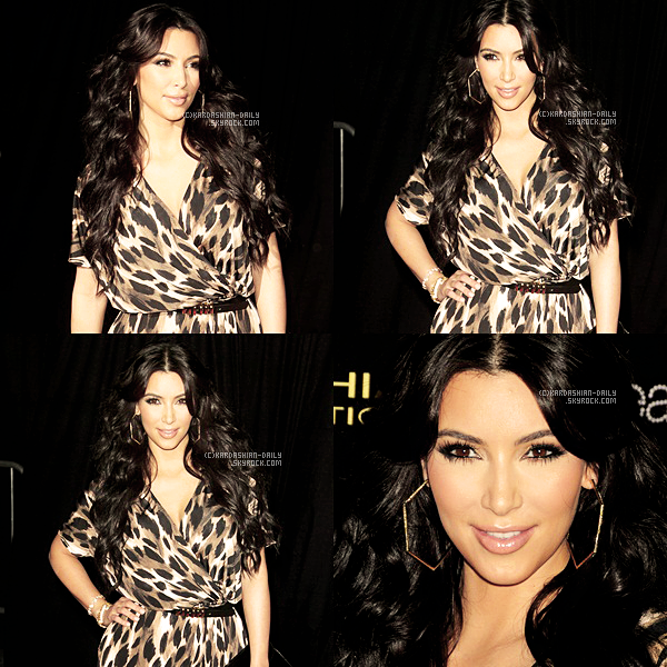 ".   APPARITION 17.08.11 : Kim à la fête de lancement de la ""Kardashian Kollection"" by Sears. ."