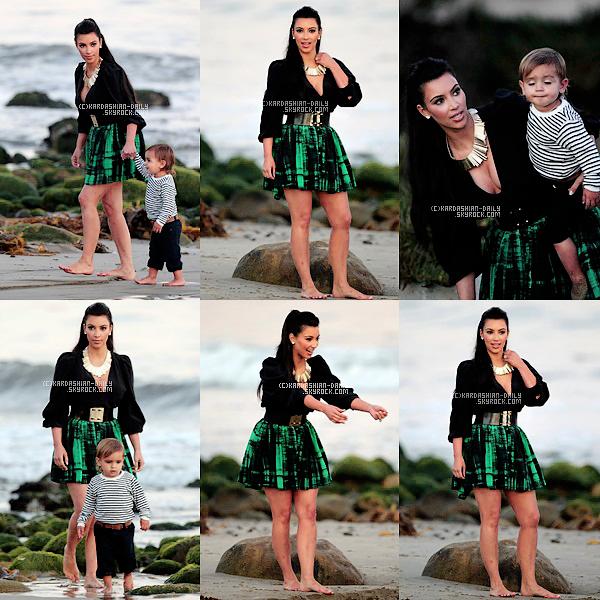 .  CANDIDS 19.08.11 : Kim et Mason à la plage de Los angeles pour des photos pré-mariage.  .