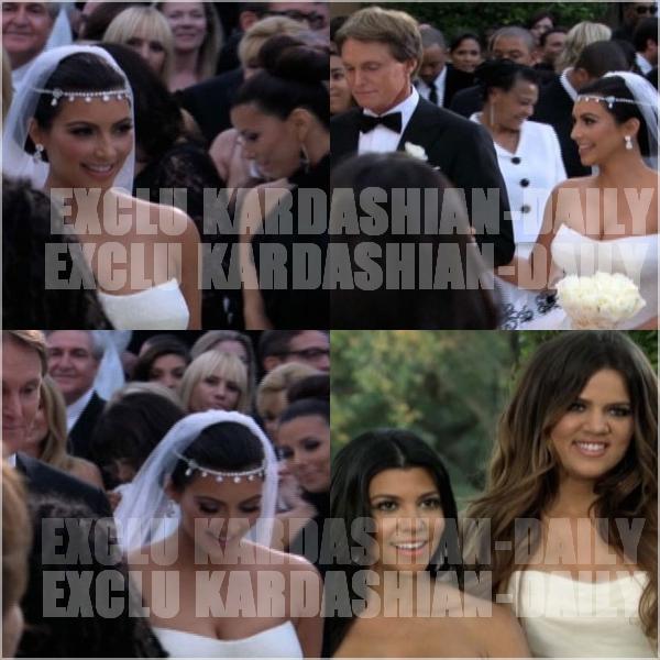 .  EXCLU :  Voici un réel aperçu du mariage de Kim et Kris. Sa robe a l'air magnifique ! Vos avis ?  .