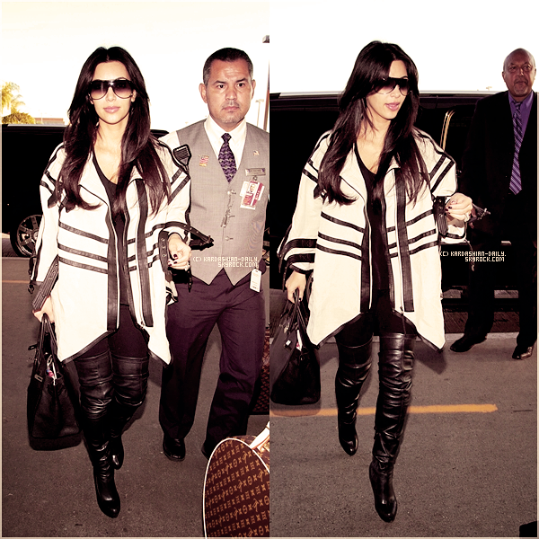 .  CANDIDS 29.08.11 : Kim à l'aéroport LAX de Los angeles pour se rendre à NYC. .