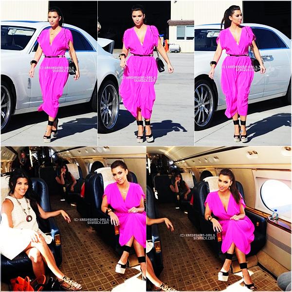 .  CANDIDS 23.07.11 : Kim prend un jet privé en direction de Las Vegas pour sa Bachelorette Party. .