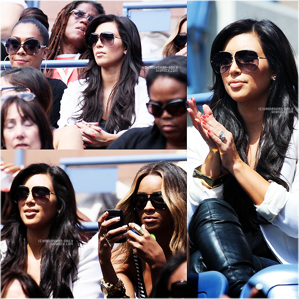 .   CANDIDS 08.09.11 : Kim était présente à l'US OPEN à New-York afin de soutenir Serena Williams. .