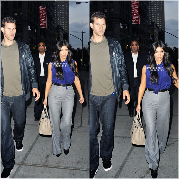 .  CANDIDS 20.09.11 :  Kim et Kris dans les rues de New-York. .
