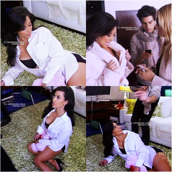 .  EXCLU :  Kim apparaît dans le 4ème épisode de la nouvelle saison de la télé-réalité : Rachel Zoe Project. .