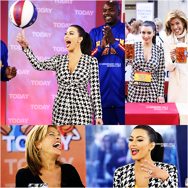 .   APPARITION 07.10.11 : Kim sur le plateau du Today Show à New-York. .