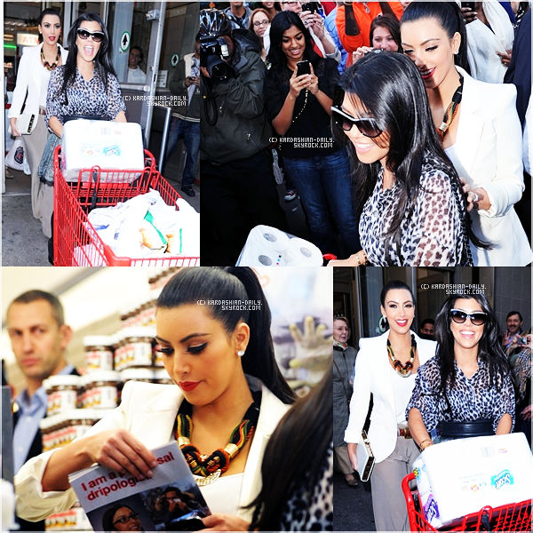 .   CANDIDS 07.10.11 : Kim et Kourtney allant au Morton Williams supermarket à NYC.  .