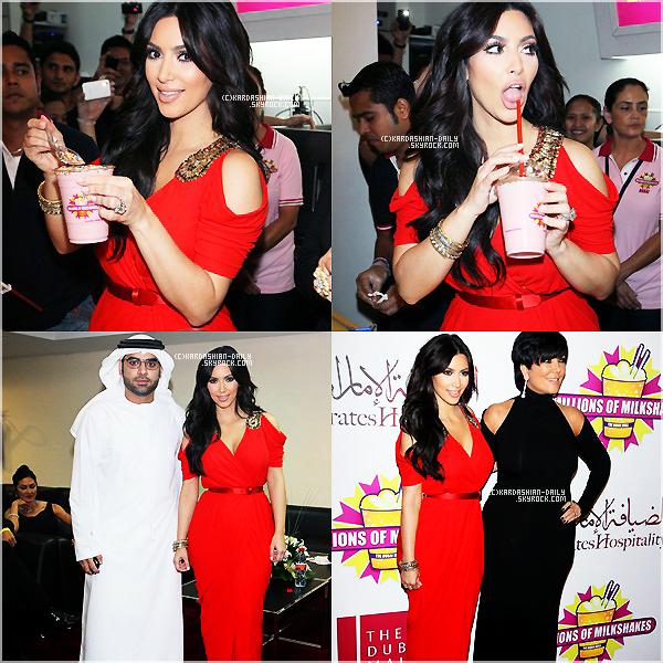 .   APPARITION 14.10.11 : Kim à l'événement Millions of Milkshakes au centre commercial de Dubai.  .