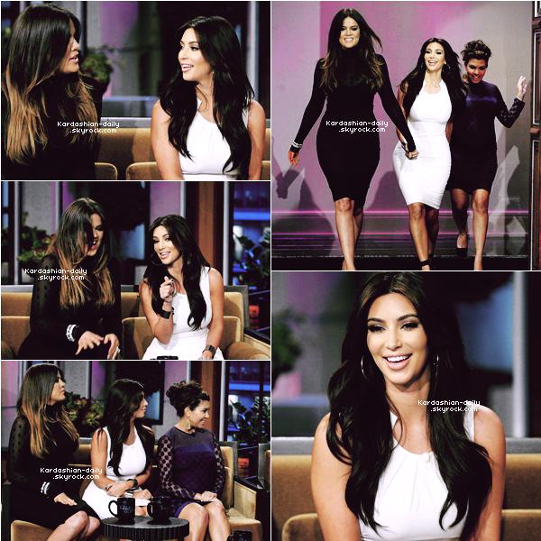 _ ►Apparition 14.05.12 : Kim et ses soeurs sur le plateau du Tonight Show avec Jay Leno.  Elles font la promotion de la 7ème saison de Keeping Up With the Kardashians!  _