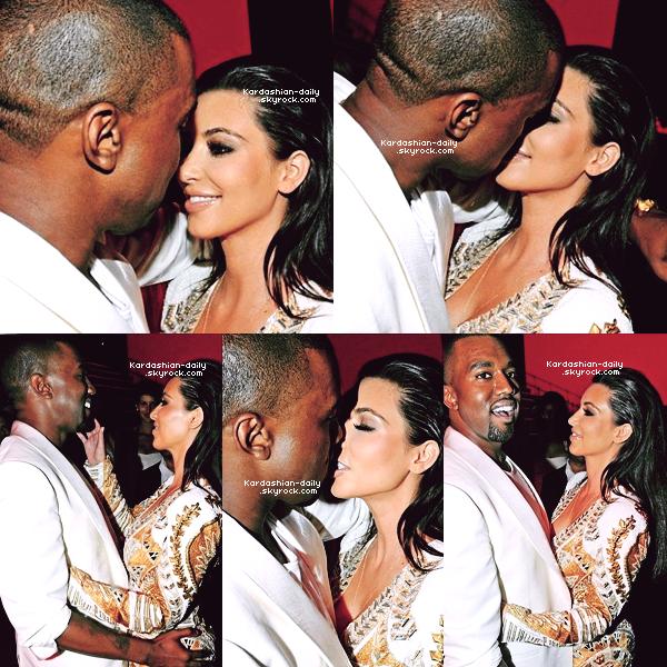 _ ► Apparition 23.05.12   : Kim et Kanye sur le tapis rouge du festival du film à Cannes.  Kanye West y présentait son court métrage : Cruel Summer.   _