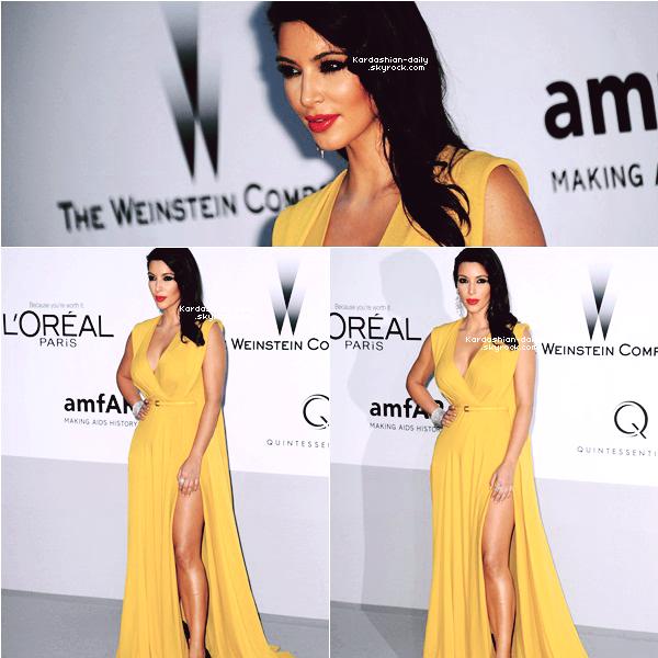 """_ ►Apparition 24.05.12 : Kim présente à l'événement """"amfAR Cinema Against AIDS"""" à Cannes .  Kanye West n'était pas présent puisqu'il donne, ce soir, un concert en Suisse. _"""