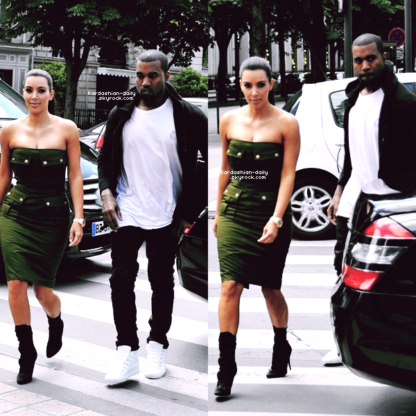 _ ►Candids 17.06.12 : Kanye et Kim ont été photographiés par les paparazzis à Paris. Kim sera à Bercy ce lundi soir afin d'assister au concert de Kanye et Jay pour le WTT tour. _
