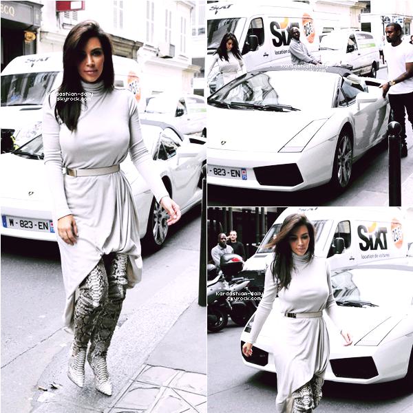 _ ►Candids 19.06.12 : Kim fait du shopping à Paris avec Kanye West.  Que pensez-vous de sa tenue? Top/Flop?   _
