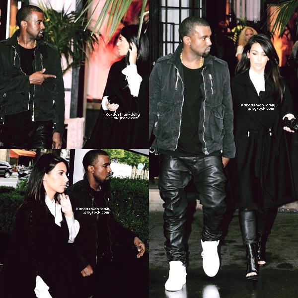 _ ►Candids 21.06.12 : Kim et Kanye West quittant, aujourd'hui, le restaurant La Villa à Paris. Elle s'est rendue à un rendez-vous professionnel et à ensuite été faire du shopping avec Kanye. _
