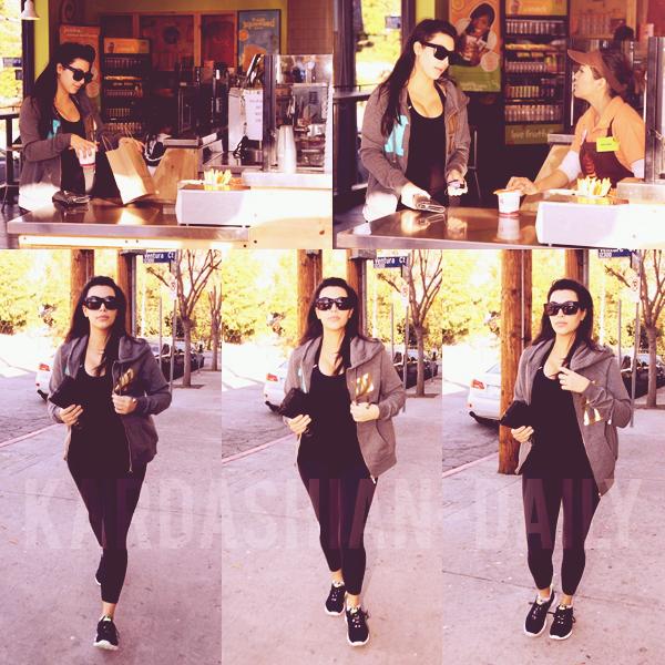 - ► 03.01.13 : KIM APERCUE APRES SA SEANCE DE SPORT A LOS ANGELES.  Britnny Gastineau a posté une nouvelle photo via instagram accompagnée de Kim los du réveillon(voir). -