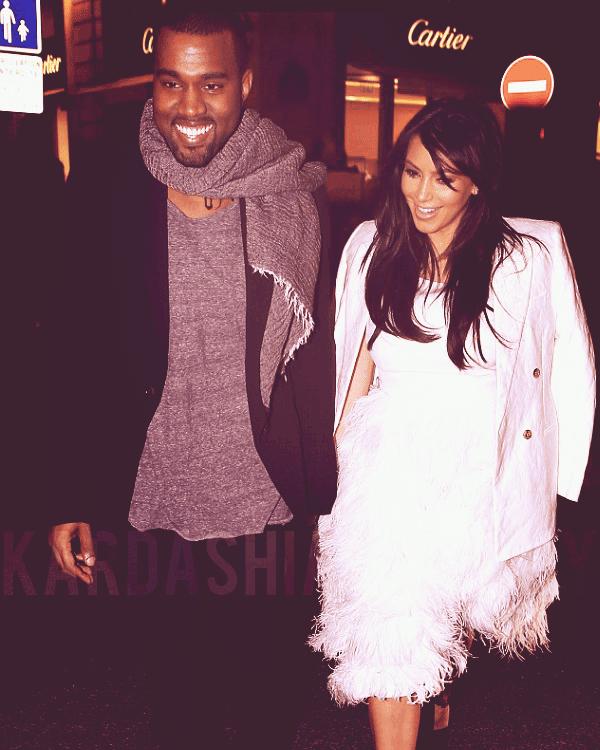 - ►25.01.13 : KIMYE PHOTOGRAPHIES DANS LES RUES DE PARIS. TOP/FLOP?  Le couple plus amoureux que jamais s'est notamment rendu à la boutique Cartier.  -