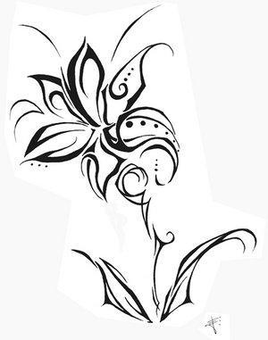 Dessin Tribal Fleur fleur - tribal!!!!