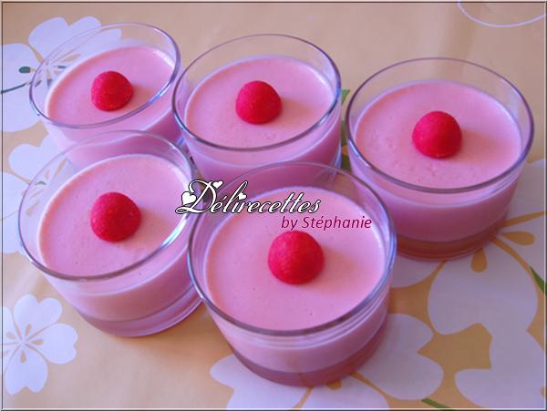 Panna cotta aux fraises tagada
