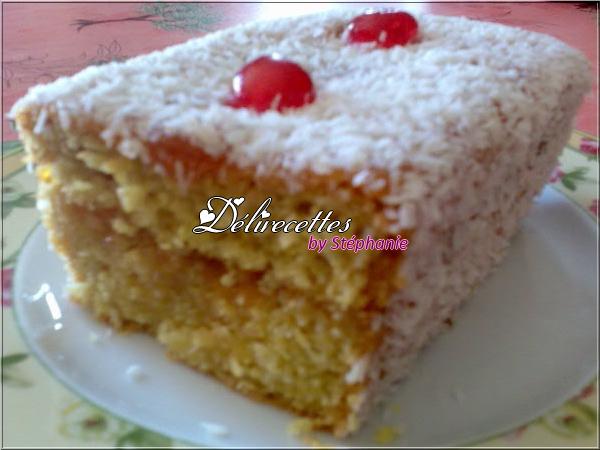 cake à la noix de coco et à l'abricot - délirecettes