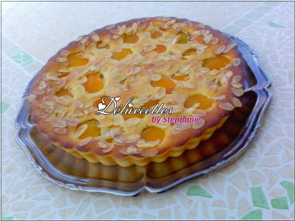 Gâteau d'abricots aux amandes