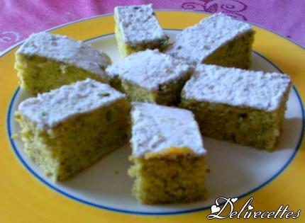 Gâteau pistache et fleur d'oranger