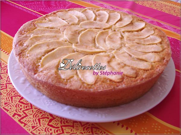 Gâteau aux pommes et aux amandes