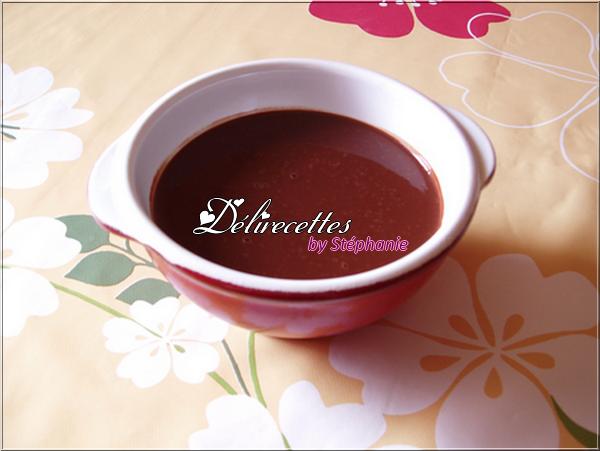 Coulis au chocolat