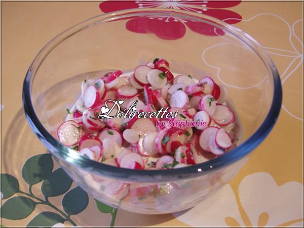 Radis roses à la crème