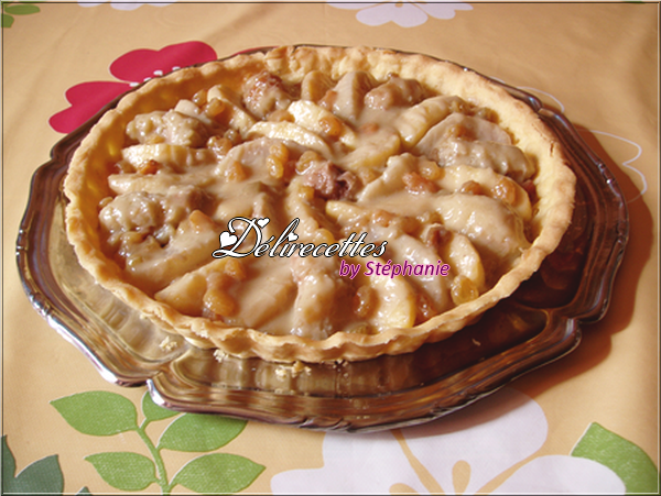 Tarte au curry de fruits