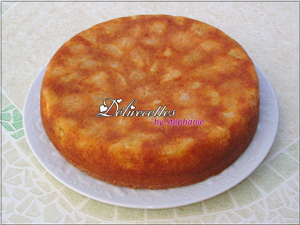 Gâteau abricots noisettes
