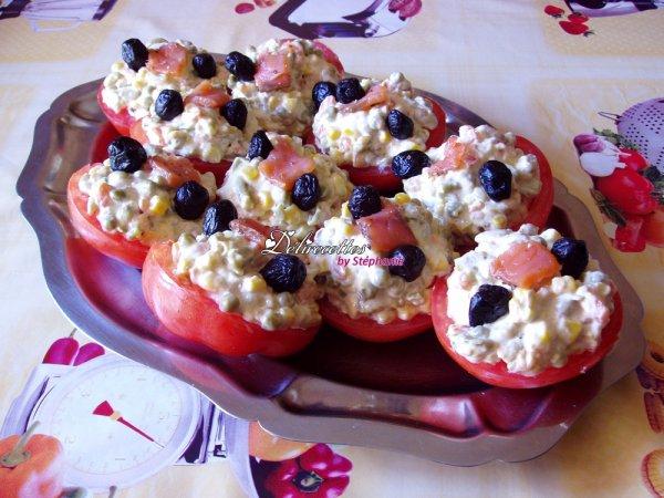Tomates à la macédoine de légumes