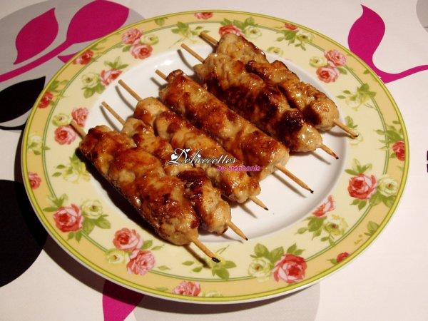 Brochettes de poulet aux sésames