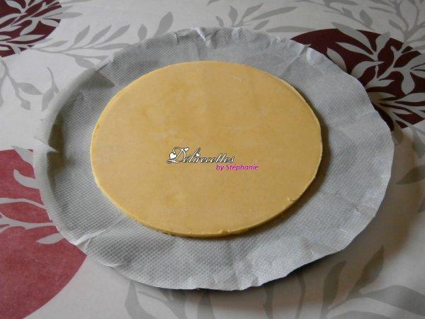 Croûte citronnée à la crème et aux framboises