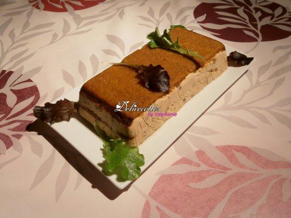 Terrine de pain d'épices au foie gras