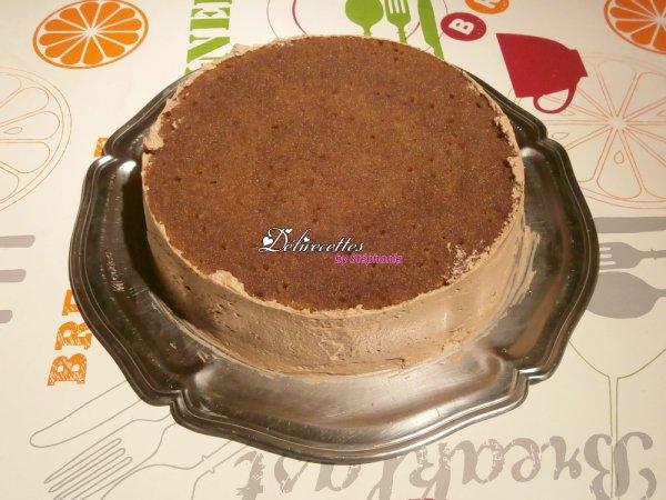 Gâteau à la chantilly chocolatée