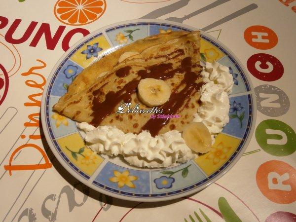 Crêpes banane sauce chocolat